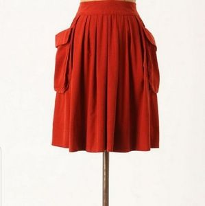 Anthropologie Maeve Red Skirt size 10